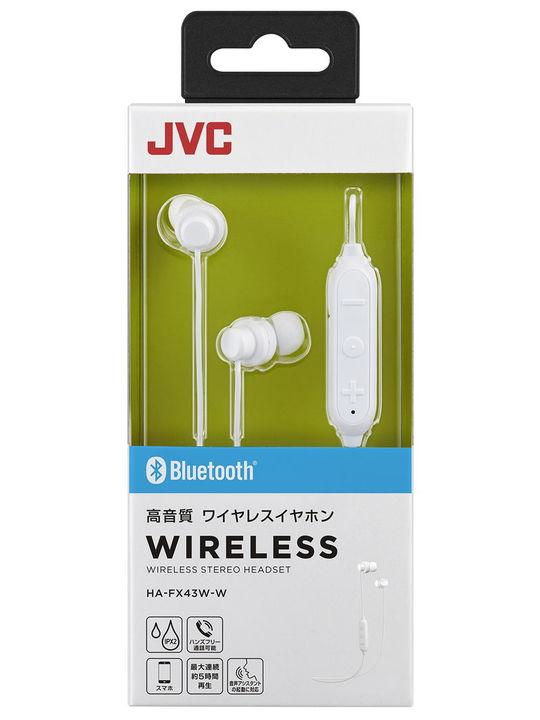 JVC Bluetoothイヤホン BK HA-FX43W W