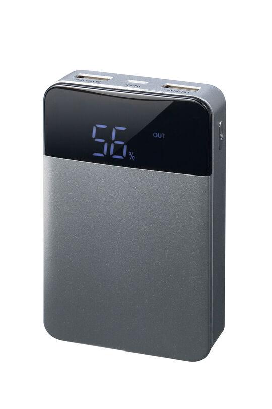 【新品】グリーンハウス 10000mAhモバイルバッテリー シルバー/グリーンハウス