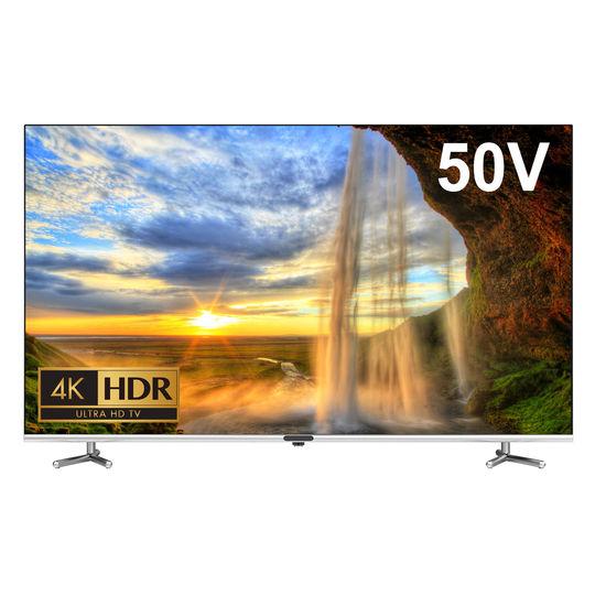 【新品】グリーンハウス 4K/HDR対応50V型ベゼルレス液晶テレビ GH−TV50BG−BK/グリーンハウス