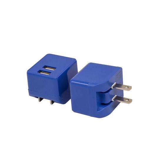 【新品】【GR】2ポートAC充電器 2.4A 2ACC01-24 BL/ゲオ