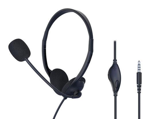 【新品】【GR】PC用ヘッドセット 両耳用 C470 BK/ゲオ