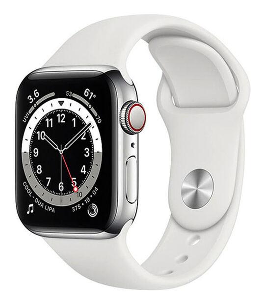 AppleWatch Series6 40mm GPS+Cellularモデル[ステンレススチール/シルバー]