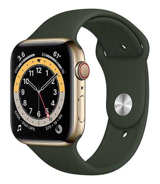 AppleWatch Series6 44mm GPS+Cellularモデル[ステンレススチール/ゴールド]